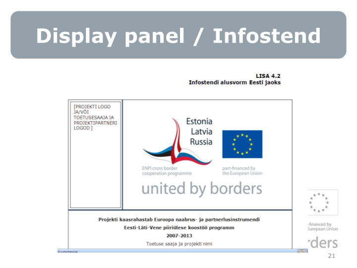 Display panel / Infostend