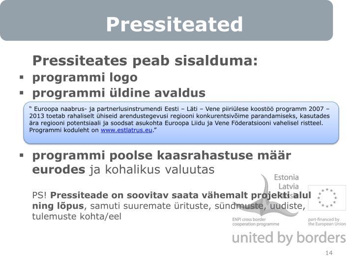 Pressiteated