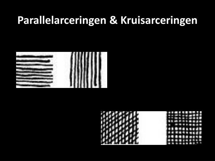 Parallelarceringen & Kruisarceringen