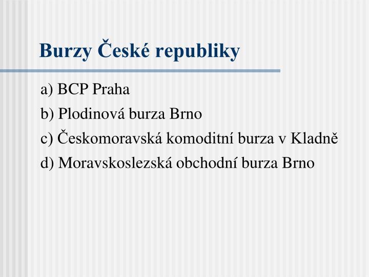 Burzy České republiky