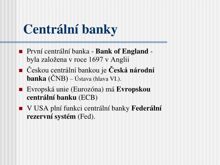 Centrální banky