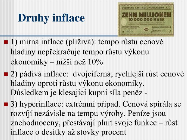 Druhy inflace