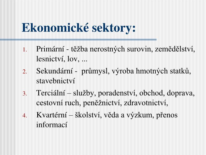 Ekonomické sektory:
