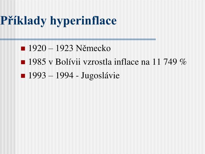 Příklady hyperinflace
