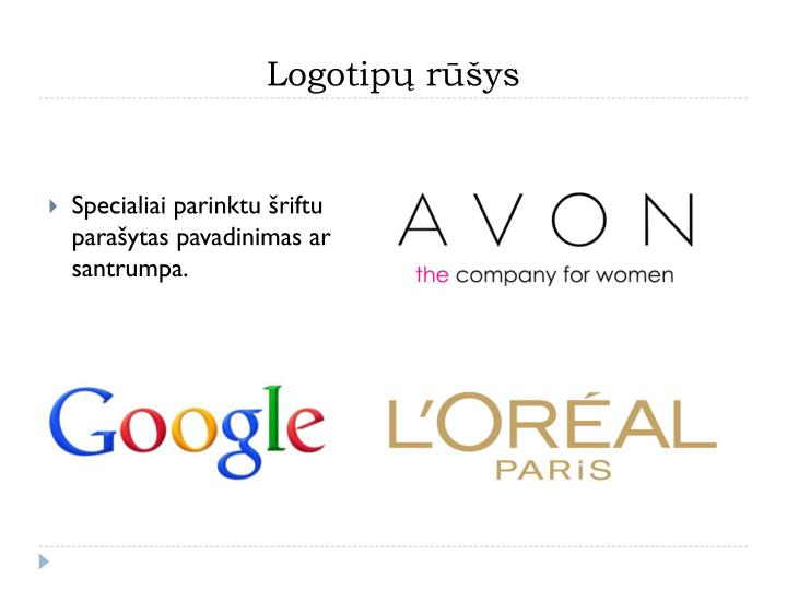 Logotipų rūšys