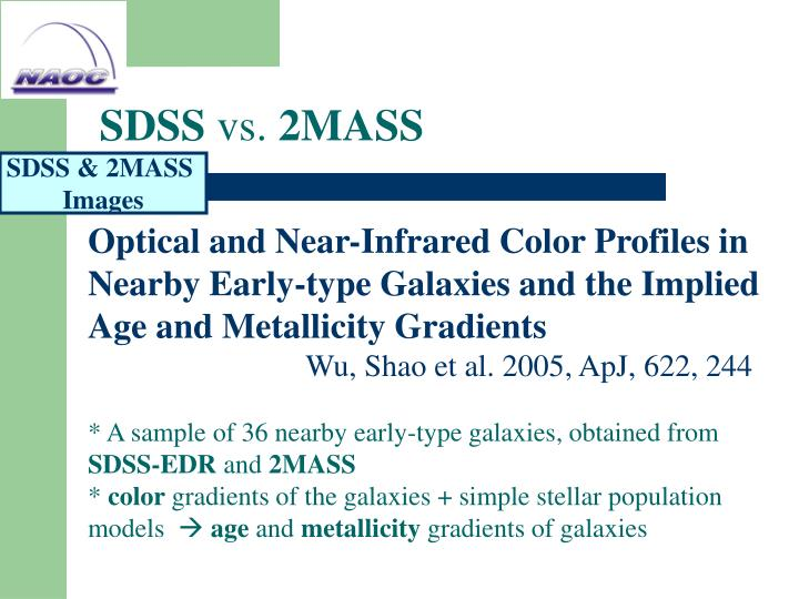 Sdss vs 2mass