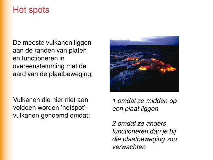 De meeste vulkanen liggen