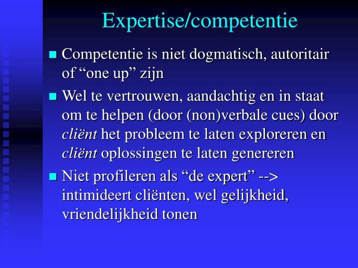 Expertise/competentie