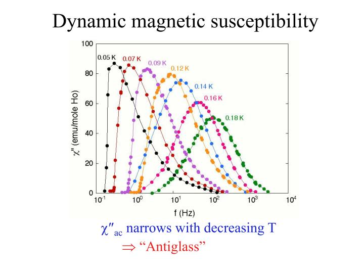 Dynamic magnetic susceptibility