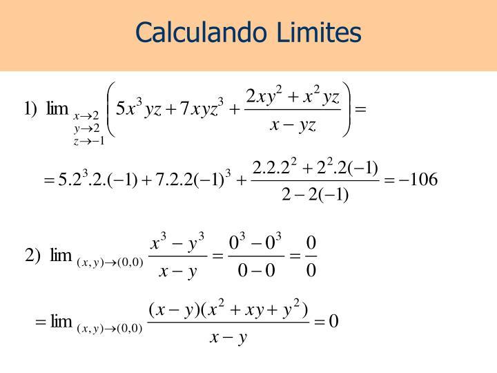 Calculando Limites