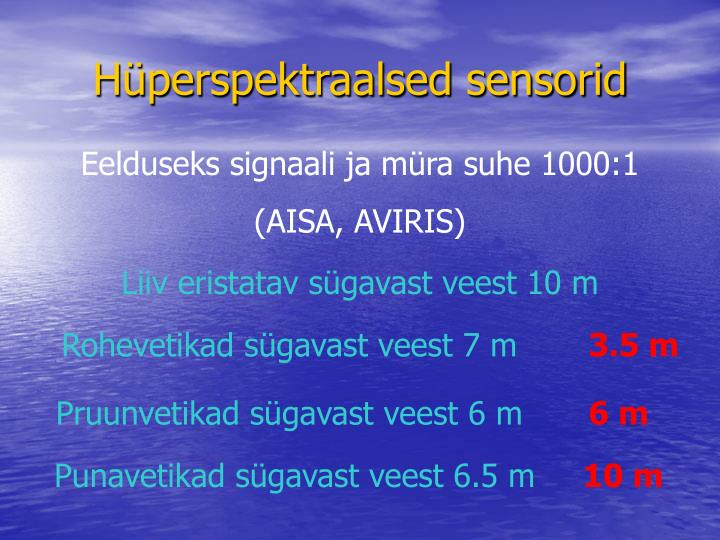 Hüperspektraalsed sensorid