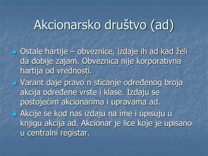 Akcionarsko društvo (ad)