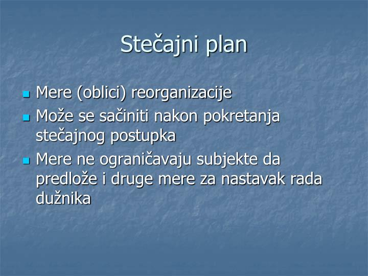 Stečajni plan
