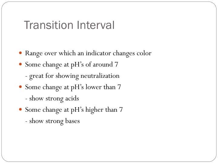 Transition Interval