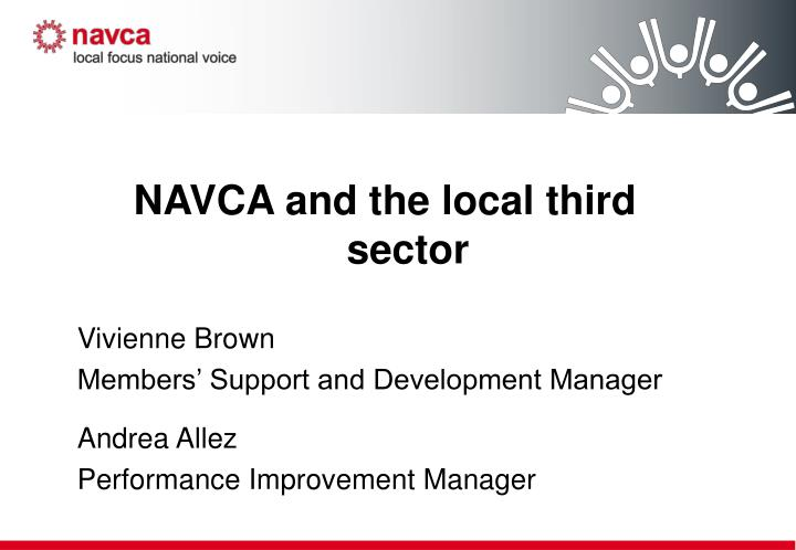 NAVCA and the local third sector