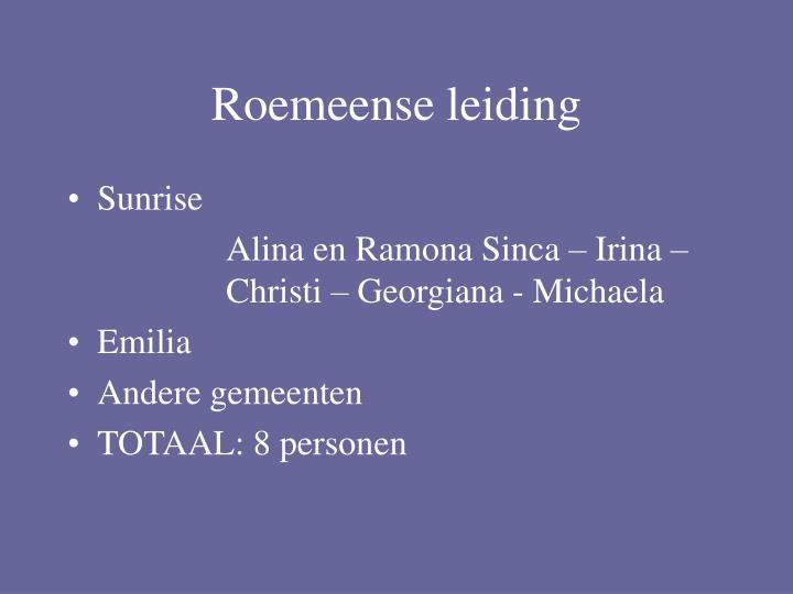 Roemeense leiding