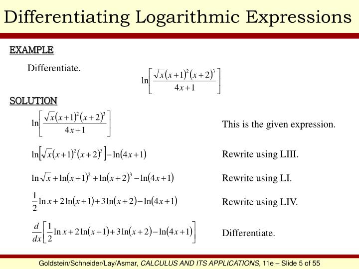 Differentiating Logarithmic Expressions