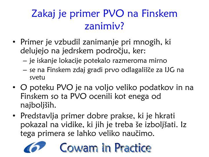 Zakaj je primer PVO na Finskem zanimiv