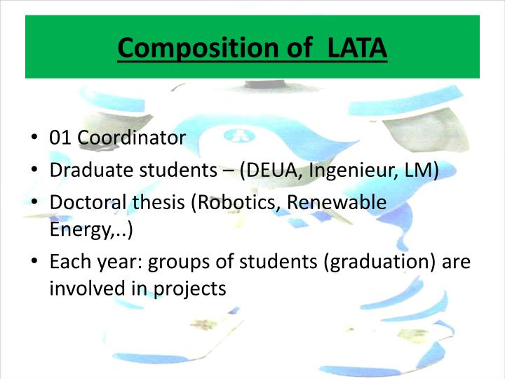 Composition of  LATA