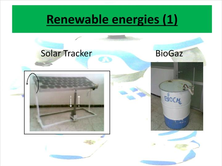 Renewable energies (1)