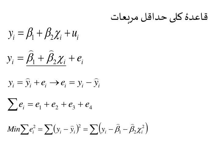 قاعدۀ کلی حداقل مربعات