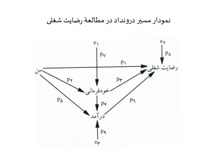 نمودار مسیر درونداد در مطالعة رضایت شغلی