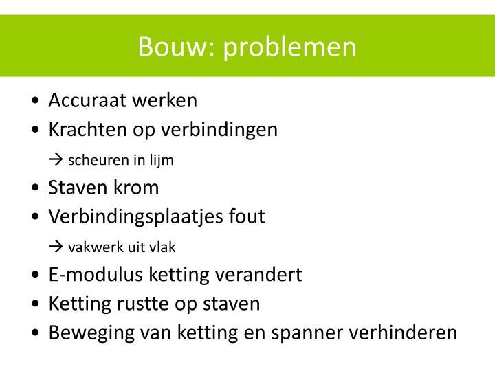 Bouw: problemen