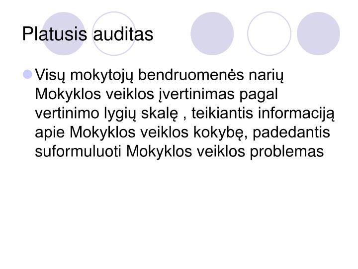 Platusis auditas