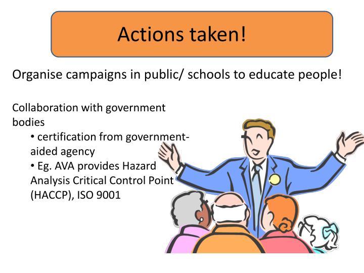 Actions taken!