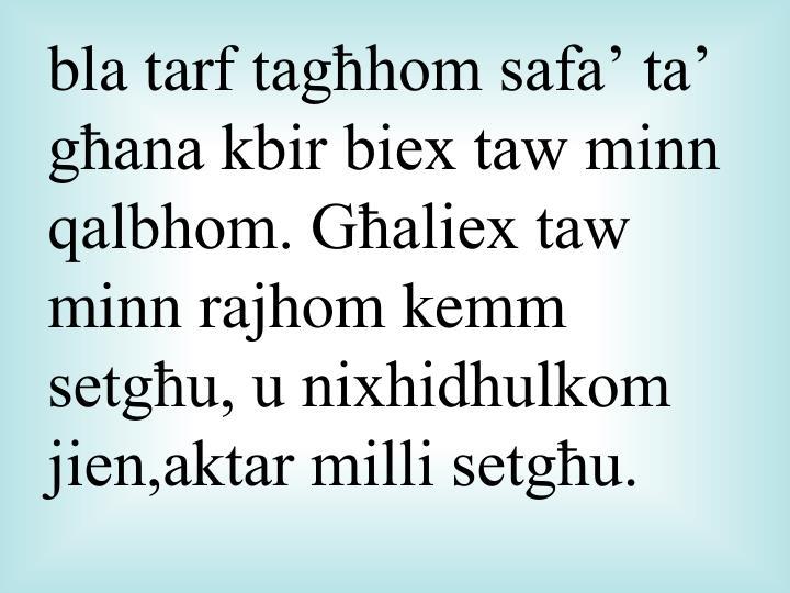 bla tarf