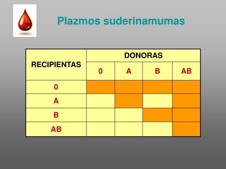 Plazmos suderinamumas