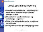 lokal sosial segregering