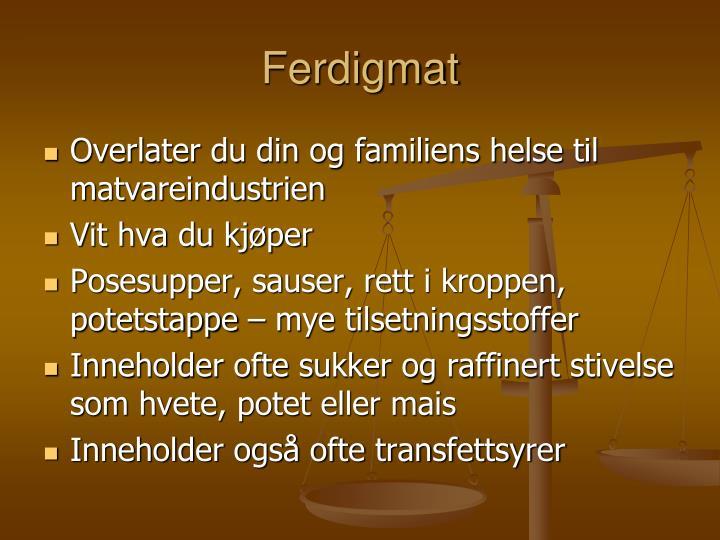 Ferdigmat