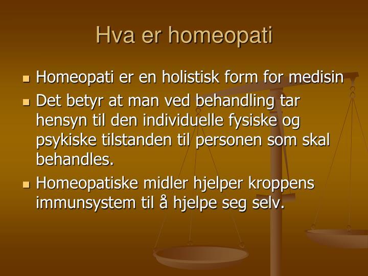 Hva er homeopati