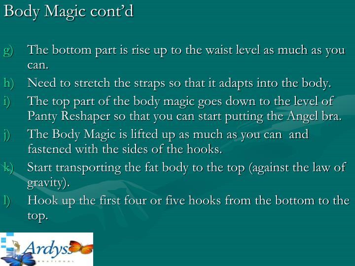 Body Magic cont'd