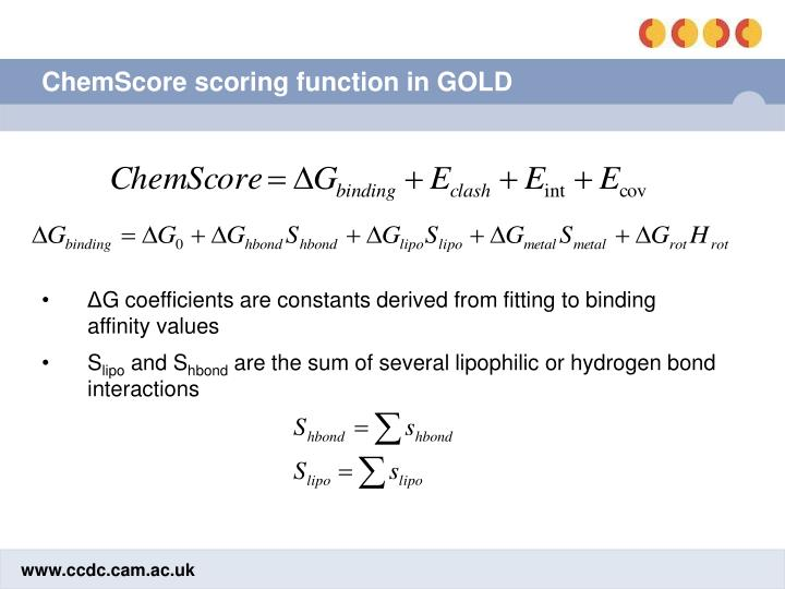 ChemScore scoring function in GOLD