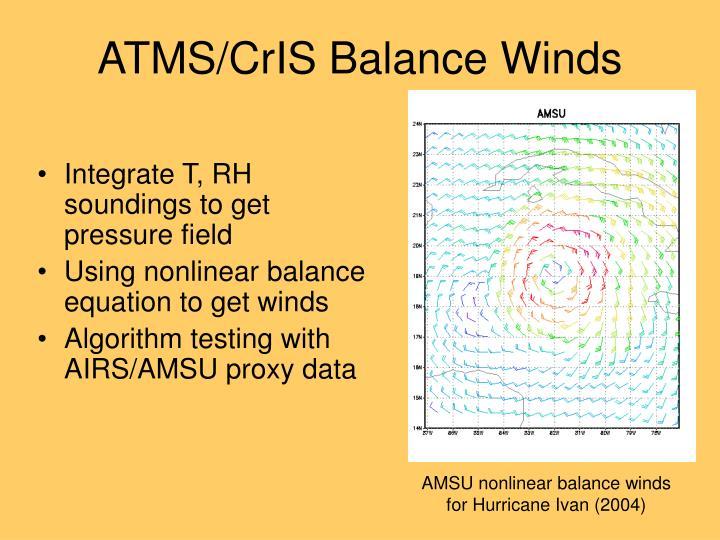 ATMS/CrIS Balance Winds
