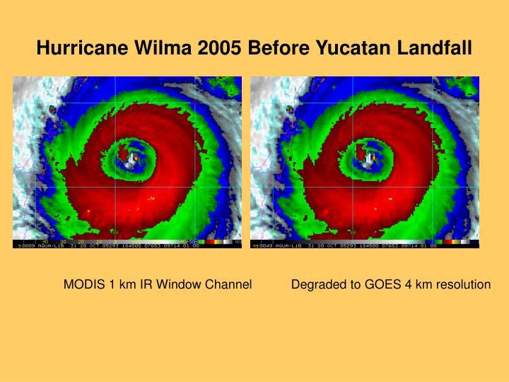Hurricane Wilma 2005 Before Yucatan Landfall