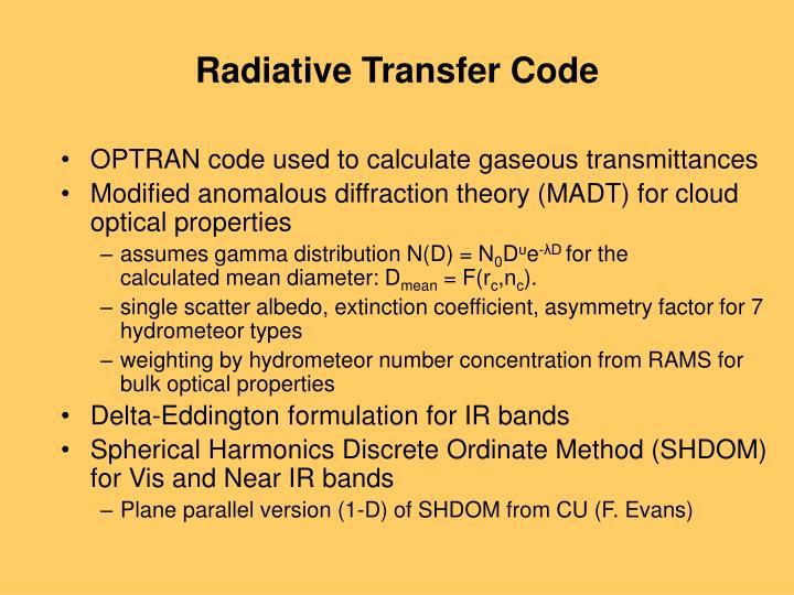 Radiative Transfer Code
