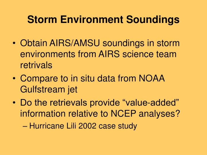 Storm Environment Soundings