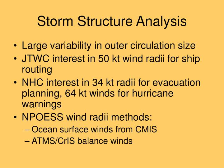 Storm Structure Analysis