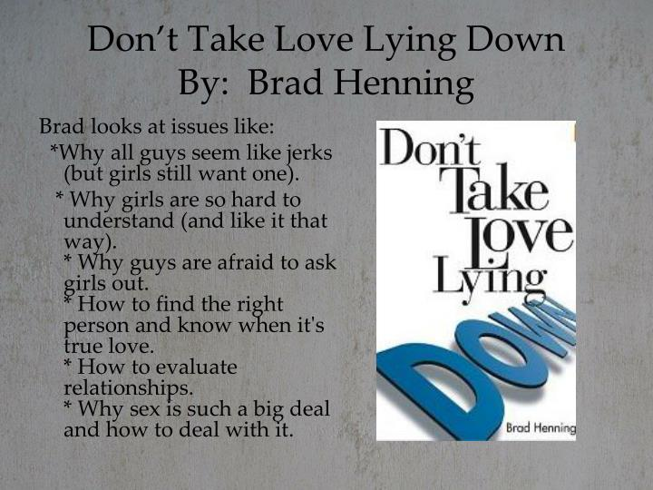 Don't Take Love Lying Down