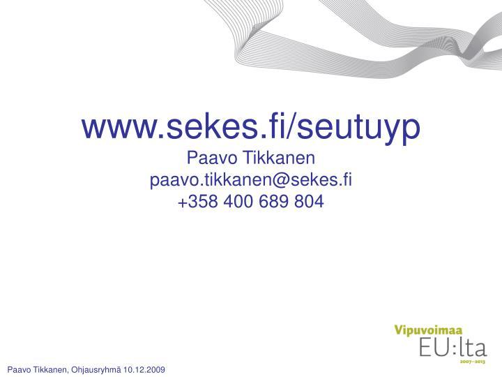 www.sekes.fi/seutuyp