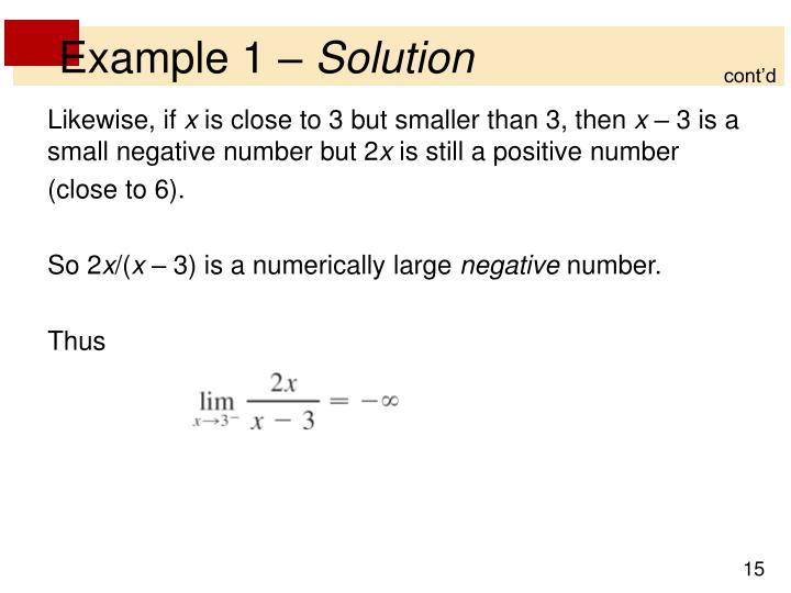 Example 1 –