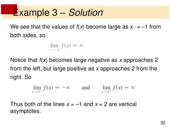 Example 3 –