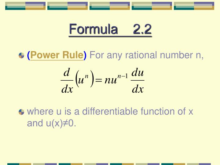 Formula    2.2