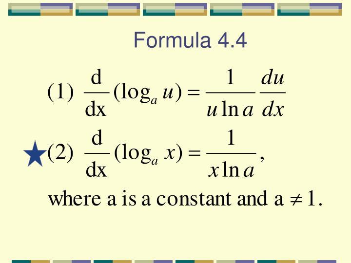 Formula 4.4