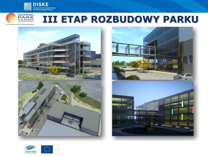 III ETAP ROZBUDOWY PARKU
