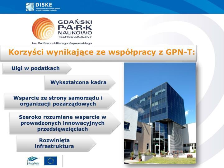 Korzyści wynikające ze współpracy z GPN-T: