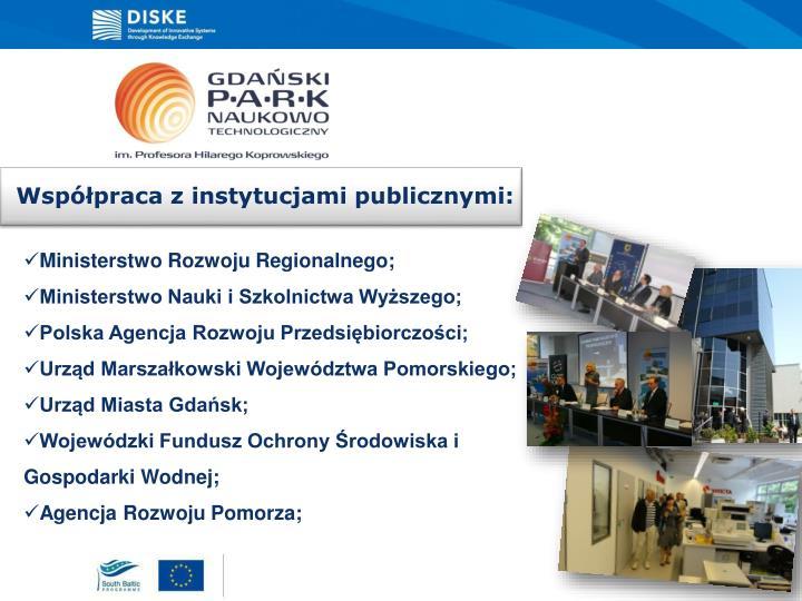 Współpraca z instytucjami publicznymi: